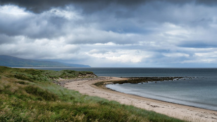 Brora beach looking north along the Sutherland coastline