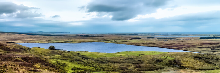 Loch of Yarrows overlooking Caithness to the ocean