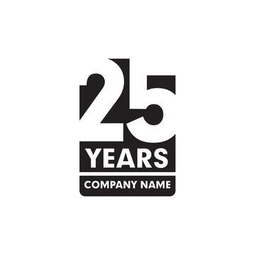 year 25th anniversary emblem logo design
