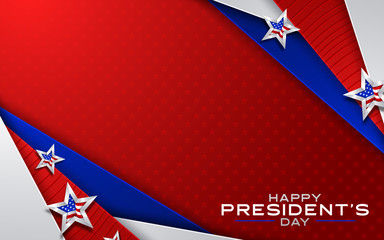 Illustration Of happy Presidents Day Background. Vector illustration Fotomurales