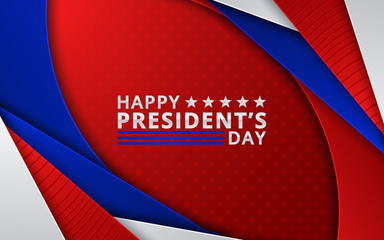 Illustration Patriotic Background with Bunting Flags for Happy Presidents Day, Colors of USA. Vector illustration Wall mural