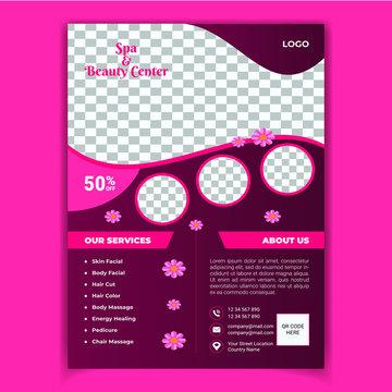 Beauty Salon Spa Flyer Template