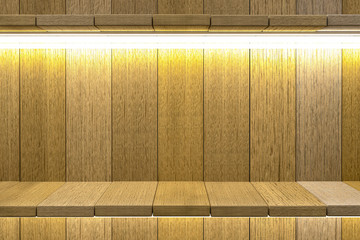 3d rendering,Shelf wooden table background for product display, Wood texture background