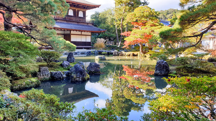 Photo sur Plexiglas Kyoto Silver Pavilion in Autumn, Ginkakuji Zen Temple at Kyoto, Japan