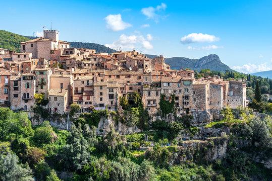 Tourrettes-sur-Loup village in Southeastern France, Alpes Maritimes.