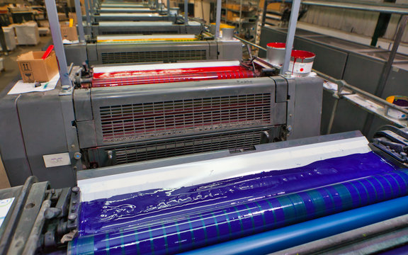 Printing machine cylinders and printing ink pot