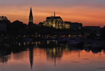 Abbaye d'Auxerre en fin de journée