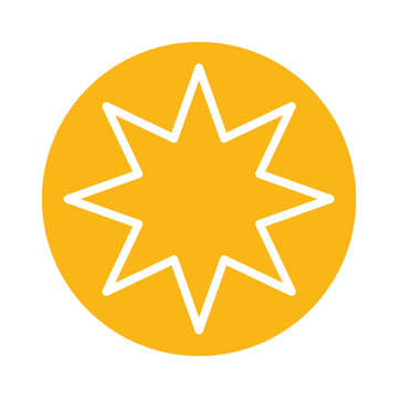 star eight pointed block style icon