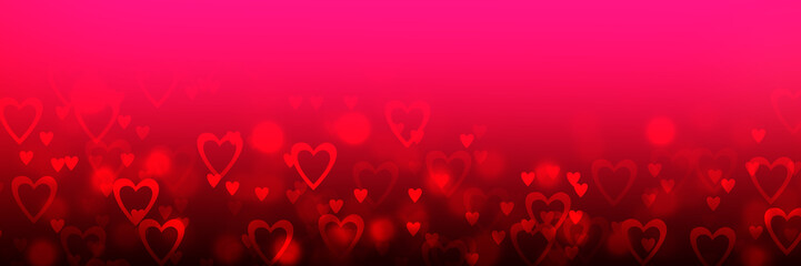 Valentine Background With Hearts Wall mural