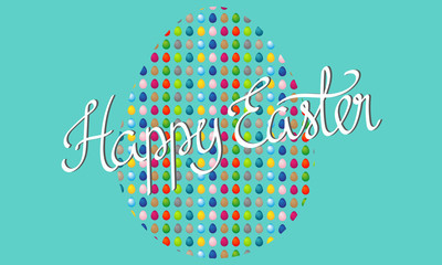 Happy Easter banner with giant easter egg