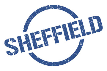 Sheffield stamp. Sheffield grunge round isolated sign