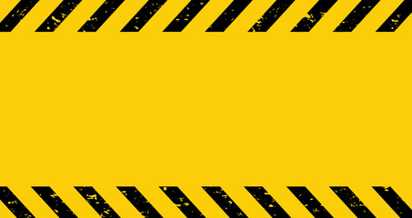 Black and yellow line striped. Caution tape. Blank warning background. Grunge striped Vector illustration