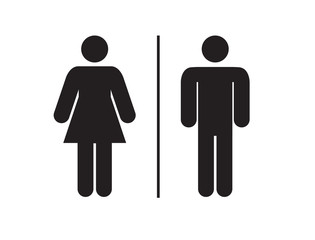 Men and women restroom icon sign. toilet sign, vector illustration