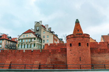 16th century Warsaw Barbican, element of the Warsaw defensive walls.