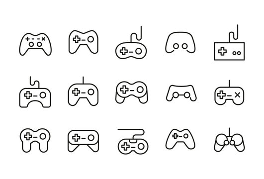 Icon set of gamepad.