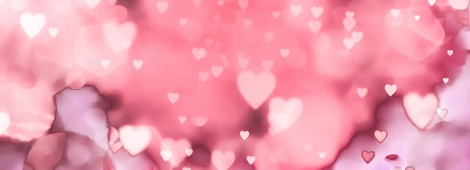 Fototapete -  abstract valentines day background with hearts