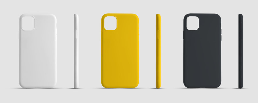 Mockup case for a mobile phone for advertising in an online store.
