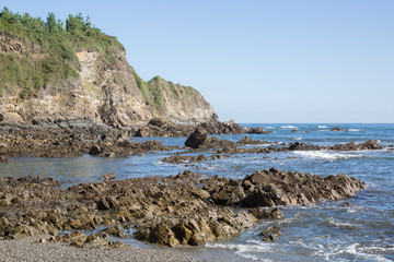 Shoreline at Cambaredo Beach; Asturias