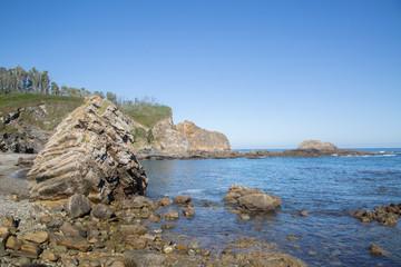 Shoreline at Pormenande Beach; Asturias