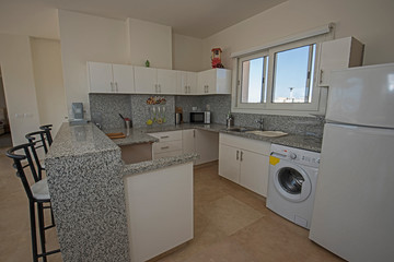 Interior design of luxury villa kitchen