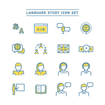 LANGUAGE STUDY ICON SET
