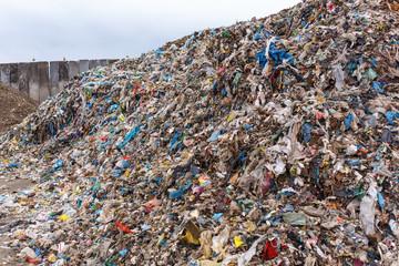Fototapeta Punkt selektywnej zbiórki odpadów, recycling obraz