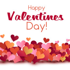 Valentine card origami style template, valentines day background