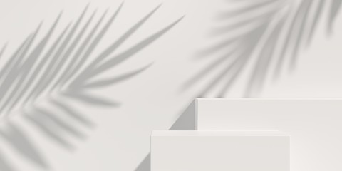 Abstract mock up scene. geometry podium shape for display product, present and advertising. 3D rendering