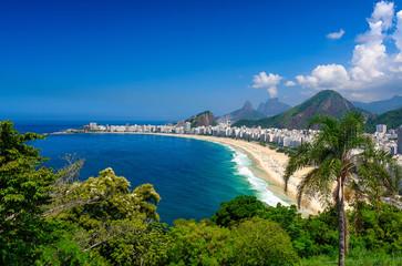 Fototapete - Copacabana beach in Rio de Janeiro, Brazil. Copacabana beach is the most famous beach of Rio de Janeiro, Brazil
