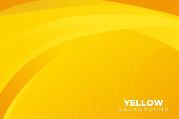 Abstract Yellow Background Template Vector, Yellow Background with Beautiful Wave and Gradient Design