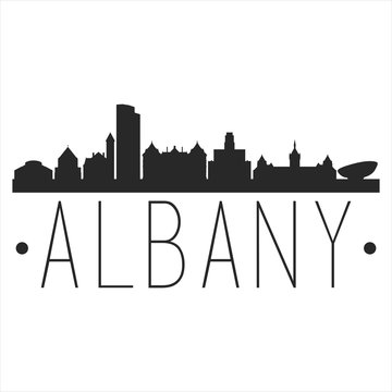 Albany New York. City Skyline. Silhouette City. Design Vector. Famous Monuments.