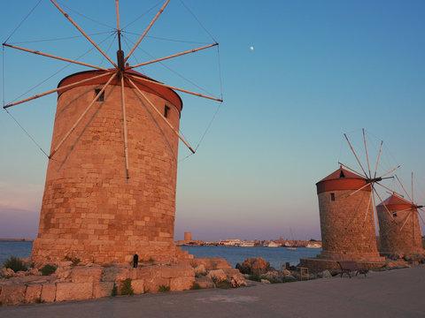 Windmühlen in Rhodos-Stadt
