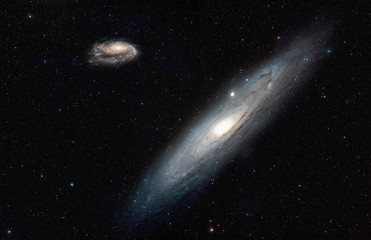 Wall Mural - Far away Our galaxy Milky Way view from neighbor galaxy Andromeda