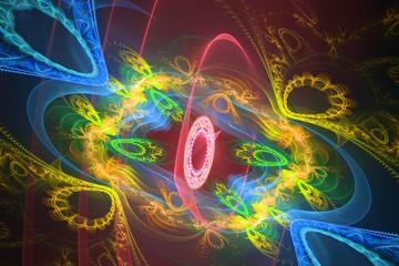 Beaufiful fractal hd wallpaper background logo blue shapes geometric pattern music waves explosion universe yolo.