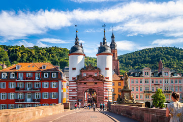 Fotorollo Altes Gebaude Alte Brücke, Heidelberg, Deutschland