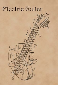 Patent Diagram for Electric Guitar