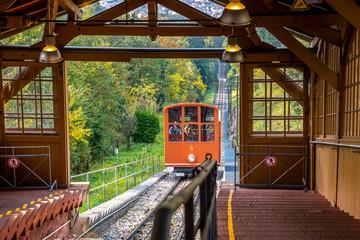 Fototapete - Bergbahn, Königsstuhl, Heidelberg, Deutschland