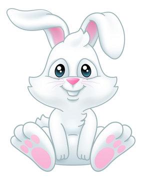 Very cute Easter bunny rabbit cartoon character
