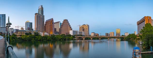 Austin Texas skyline at twilight panorama Fototapete