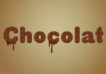 Chocolate Text Effect with Drip Elements