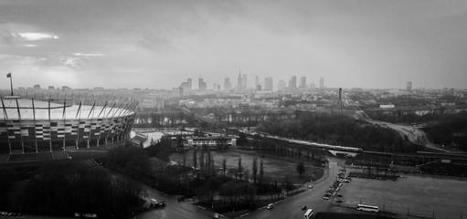 Warszawa Warsaw z lotu ptaka