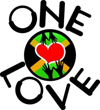 One Love Jamaica Vector