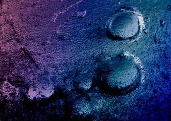 Abstract, liquid light blue paint metallic background. Fototapete