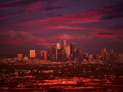 LA Skyline Sunset
