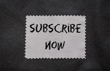 Subscribe now chalk words written