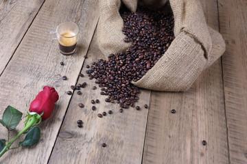 In de dag koffiebar Tazzina di caffè per il primo appuntamento