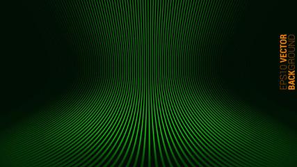 Modern Green Abstract Circular Wave