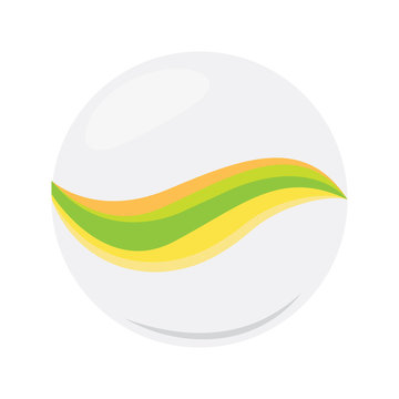 Isolated marble ball icon