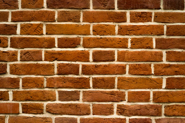 brick red wall and house background. brick house.