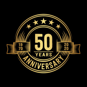 50 years anniversary celebration logotype. Vector and illustration.